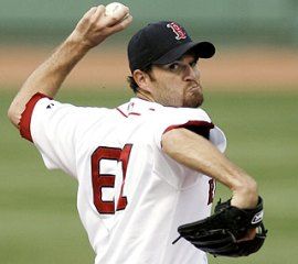 Gabbard Throws for the Red Sox in 2007